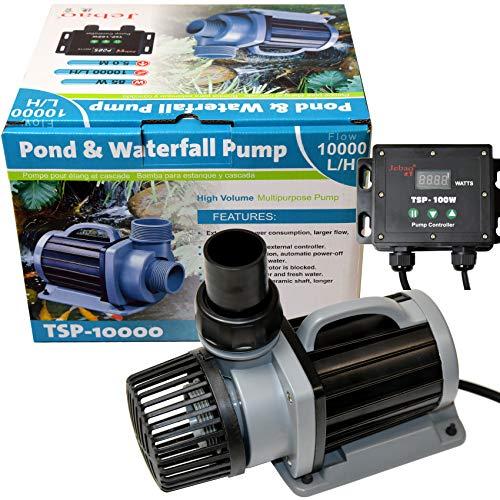 Jebao TSP ECO Teich Koi Filterpumpe DM Pumpe, 15-85 Watt, Förderhöhe 5 Meter, elektronisch regelbar mit Controller - TSP 10000