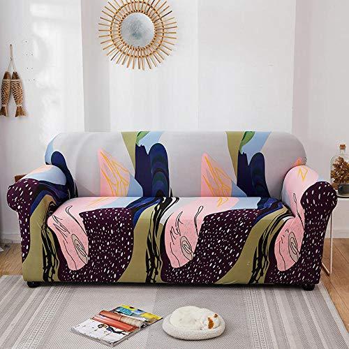 Funda de sofá de 3 Plazas Funda Elástica para Sofá Poliéster Suave Sofá Funda sofá Antideslizante Protector Cubierta de Muebles Elástica Graffiti Colorido Funda de sofá