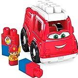 Mega Bloks First Builders Camion de Pompiers, jeu de voiture et de blocs de...