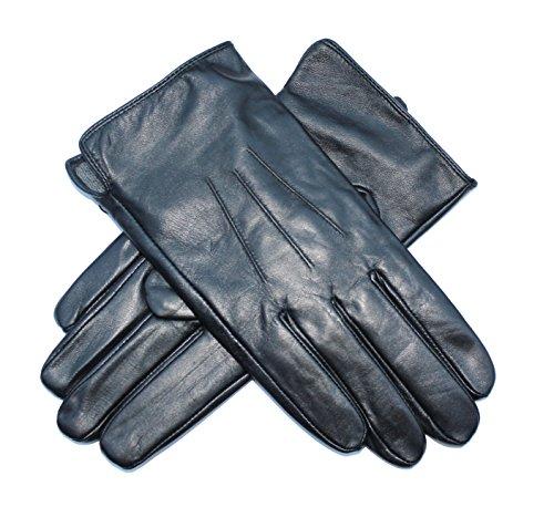 guanti pelle uomo Jasmine Silk - Guanti da uomo foderati in vera pelle di agnello e cashmere
