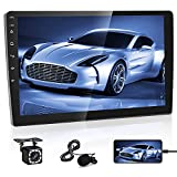 Double Din Android Car Stereo 10.1 inch Touch Screen Car Radio, in-Dash GPS Navigation Unit, WiFi/Bluetooth/FM Receive, Backup Camera & External Microphone