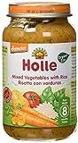 Holle Potito de Verduras con Arroz (+8 meses) - Paquete de 6 x 220 gr - Total: 1320 gr
