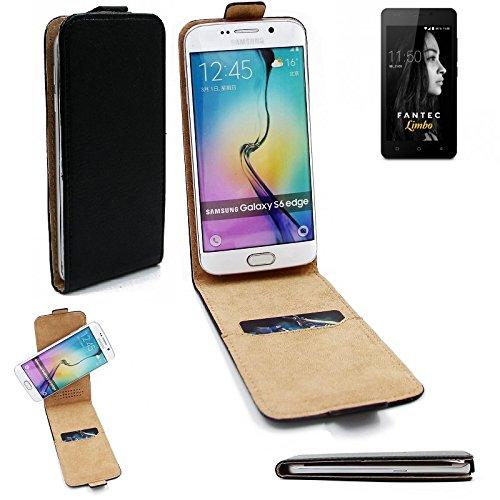 K-S-Trade® Für FANTEC Limbo Flipstyle Schutz Hülle 360° Smartphone Tasche, Schwarz, Case Flip Cover Für FANTEC Limbo