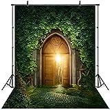 JIANGQIAO Fondo para fotos con diseño de herbáceas y bosques de hadas para niños recién nacidos, setas y elfos (color: P1230, tamaño: vinilo fino, 180 x 270 cm)