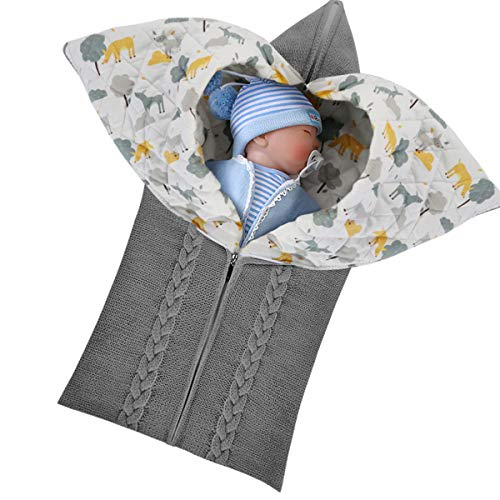Jinxuny Pasgeboren Baby Swaddle Deken Wikkel Baby Warm Slaapzak Slaapzak Warm Deken Swaddle voor 0-12 Maand Baby Jongens Meisjes
