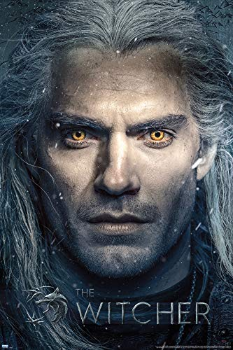 1art1 The Witcher Poster - Close Up (91 x 61 cm)