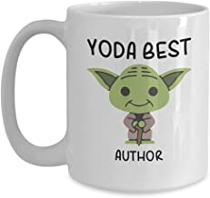 Yoda Best Author - Novelty Gift Mugs for Star Wars Fans - Co-Workers Birthday Present, Anniversary, Valentines, Special Occasion, Dads, Moms, Family, Christmas - 15oz Funny Coffee Mug