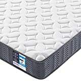 <span class='highlight'>Yaheetech</span> <span class='highlight'>3ft</span> Pocket Spring <span class='highlight'>Mattress</span> for <span class='highlight'>Single</span> Bed 20cm Thick Medium Firmness <span class='highlight'>Mattress</span> with Hypoallergenic Knitted Fabric Safe for Kids/Adults,Vacuum Roll Packed,Grey