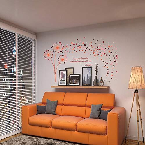 Cooldeer tand leeuw roze muursticker creatieve woonkamer slaapkamer achtergrond muursticker