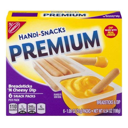 Nabisco Handi-Snacks Premium Snack Packs Breadsticks 'N Cheesy Dip - 4 Pack