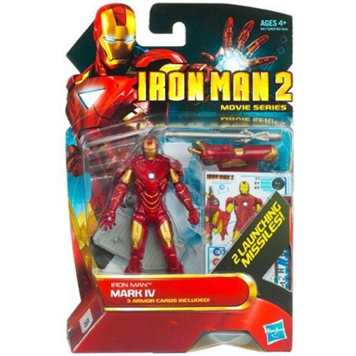 Iron Man 2 Movie 4 Inch Action Figure - Iron Man Mark IV