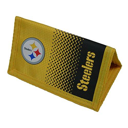 Pittsburgh Steelers NFL Official - Cartera con escudo y colores en degradado (Talla Única) (Amarillo Gris)