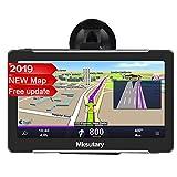 7' GPS Voiture Auto - Cartographie Europe 50 Pays Mise à Jour à Vie - 7 Pouces Ecran Tactile Haute Luminosité avec Dispositif Anti-reflet