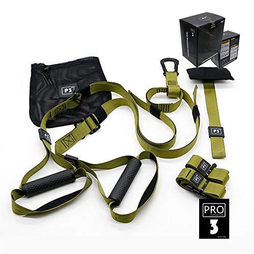 YANW Kit De Entrenamiento De Suspensión Pro 3, Equipo De Entrenamiento Colgante con Tractor TR, Kit De Entrenamiento De Estiramiento Multifuncional De Yoga Pull-String, Gym Verde/Verde