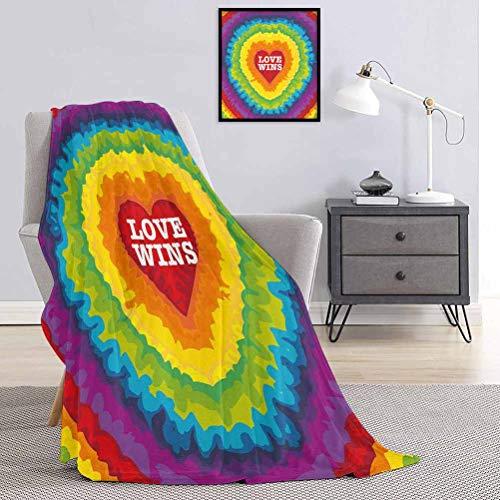 Toopeek - Manta de franela para cama (70 x 84 cm), multicolor