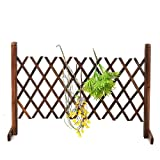 KX-YF Niños Chaqueta Impermeable Decoraciones Expanding portátil Valla de Madera Puerta de Pantalla del Perro casero del jardín del Patio del césped Barrera de café Chubasquero
