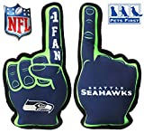 Pets First NFL Seattle Seahawks #1 Fan Toy for Dogs & Cats. Best Tough PET Toy with Inner Squeaker, Team Color, one Size (SEA-3277)