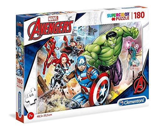 Clementoni 29295 Clementoni-29295-Supercolor Puzzle-The Avengers-180 Teile, Mehrfarben, 180pezzi