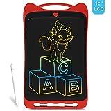 Richgv® Dessin Animé Tablette d'écriture LCD colorée, Tablette Graphique de 12 Pouces Digital Ewriter, Tablette de griffonnage...