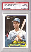 1989 Topps Traded Baseball #41T Ken Griffey Jr. Rookie Card Graded PSA 10 Gem Mint