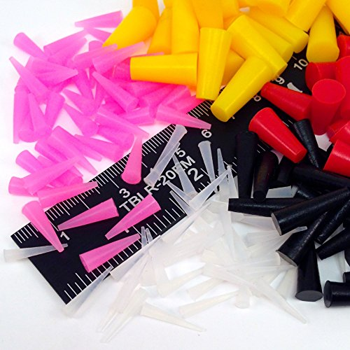 175 Piece Powder Coating Plugs High Temp Silicone Rubber Tapered Stopper Kit