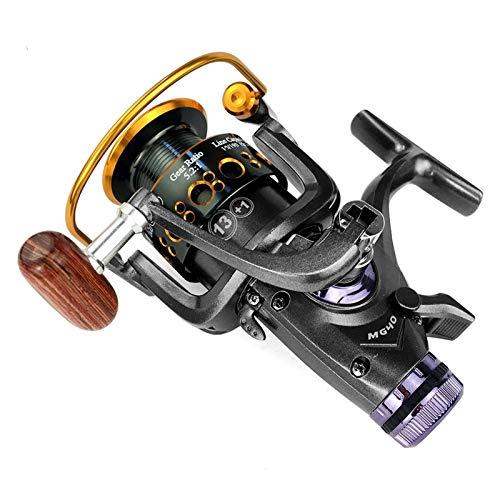 lxxiulirzeu Carrete de Pesca Carpa Spinning Reel Sistema de Freno Delantero y Trasero Sistema de Metal carretes de Pesca Pesca Herramientas Accesorios (Spool Capacity : 5000 Series)