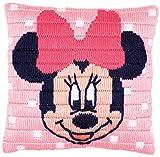 Vervaco–Cojín de Punto de Cruz, diseño de Minnie Mouse de Disney Stick de vorgezeichnet Paquete de Punto, vorbeze Cumple, algodón, Multicolor, 25x 25x 0,3cm