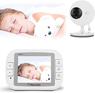 Baby Monitor Audio Only 2 Parent Units Support Horizontal 360 ° Rotation 3.5-inch LCD Display High-Resolution Pictures and...