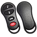 Replacement 4 Buttons Keyless Smart Key Fob Shell Case and Button Pad For Chrysler Dodge Sebring 300 300m Concorde LHS Intrepid Stratus Viper Jeep Liberty No Chip (Only Key Shell)