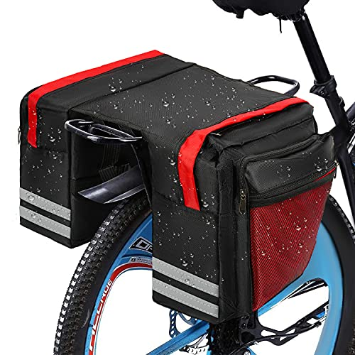 Alforjas,Alforjas De Ciclismo,Pannier Bag,Doble Bolsa Para Bicicleta, Alforjas Para Bicicleta,Alforjas Bicicleta Impermeable,Maleta Bicicleta,Bolsa Trasera Bicicleta,Multifuncional Bolsa Alforja