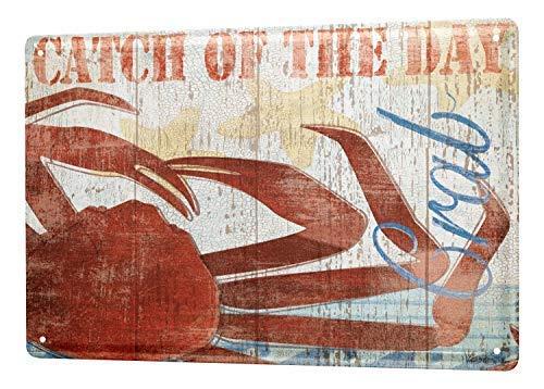 qidushop Plaque Murale Amusante en métal pour Femme Motif Crabe