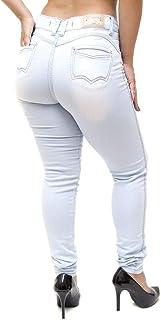 Calça Jeans Feminina Cheris Skinny Rasgadinha Helcilene Azul