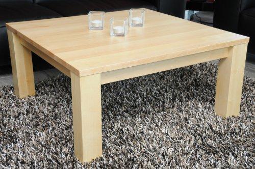 Holz-Projekt-Summer Couchtisch-Tisch 70x70cm Birke/Echtholz/Massivholz/Höhe 42 cm