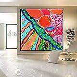 ganlanshu Pintura sin Marco Lienzo Pintura al óleo de decoración del hogar Imagen más Famosa Moderna Abstracta Sala de Estar muralCGQ8722 50X50cm