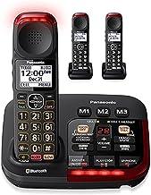$239 » Panasonic KX-TGM430B + (2) KX-TGMA44B Link to Cell Volume Boost Control Noise Reduction Talking Caller ID Amplified Cordle...