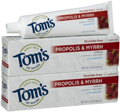 Tom's of Maine Antiplaque with Propolis & Myrrh Paste, Cinnamint - 5.5 oz - 2 pk