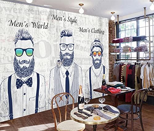 Papel empapelar Personalidad de moda tienda de ropa para hombres gafas de sol hombres decoraciones de papel tapiz Fotomurales decorativos pared -250cmx175cm