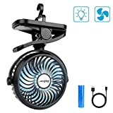 Best Usb Rechargeable Batteries - SkyGenius Clip On Camping Fan with LED Lights Review