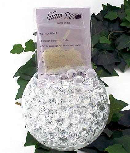 25paquetes de Glam decoración agua cuentas® Gel bolas suelo de cristal Bio boda jarrón centro de mesa, transparente