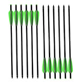 """NIKA ARCHERY 22"""" Crossbow Bolts Aluminum Arrows Moon Nock for Outdoor Hunting Pack of 12"""