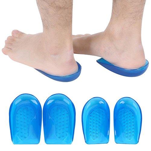Silikon gel hälkoppar, O/X benkorrigering innersulor fot ortopisk båge stöd skor inlägg kuddar (L41-46)