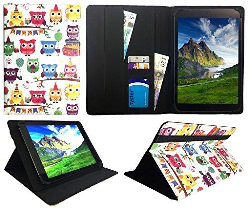 Archos 101 Platinum 3G Tablet / Diamond Tab ( 2017 ) 10.1 zoll Multi Owl Universal Wallet Case Cover Folio ( 10 - 11 zoll ) von Sweet Tech