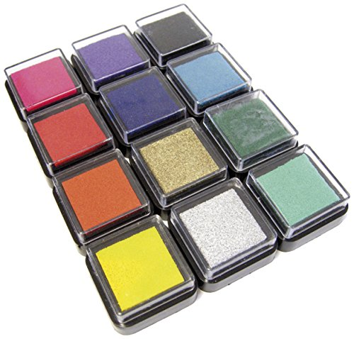 EDUPLAY 220061 - Ministempelkissen, 12 Stück