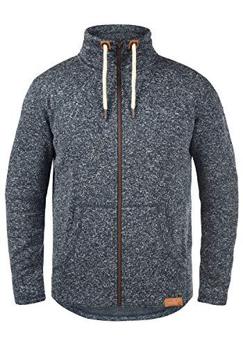 !Solid Luki Herren Fleecejacke Sweatjacke Jacke Mit Stehkragen Und Melierung, Größe:L, Farbe:Insignia Blue Melange (8991)