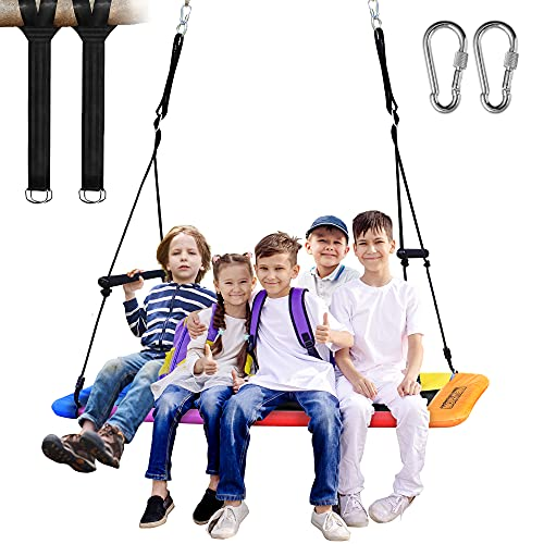 Newtion 700lbs Giant 60' Platform Tree Swing for Kids and Adults with 2 Handles, Durable Steel...