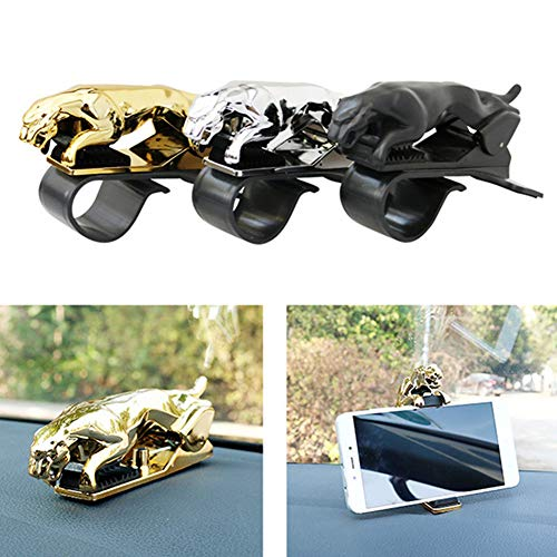 Banma Tech Car Leopard Form Dashboard Phone Holder 360 Degree Phone Mount Stand Bracket-Best Xmas Gifts (Silver+Gold+Black)
