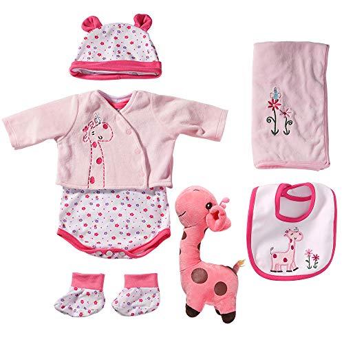 Yesteria Kleidung Mädchen für 50-55 cm Realistisch Reborn Babypuppe Rosa Giraffe