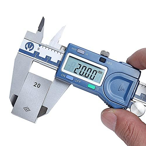 GYAM Calibrador de Vernier Digital de 8 Pulgadas / 200 mm, calibrador de Acero Inoxidable admite una Pantalla LCD Grande de conversión de Pulgadas/métricas para diseñadores de Ingenieros mecánicos