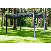 Hanover Adjustable Canopy 13 X 10-Ft Aluminum Pergola (Dark Gray)