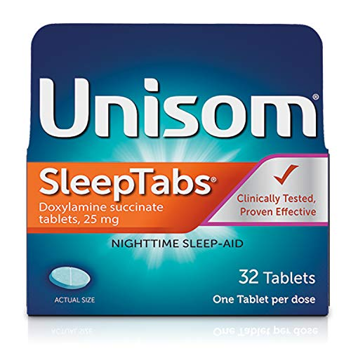 Unisom Sleep Tablets, Night time Sleep-Aid, 25 mg Doxylamine Succinate, No Flavor, 32 Tablets